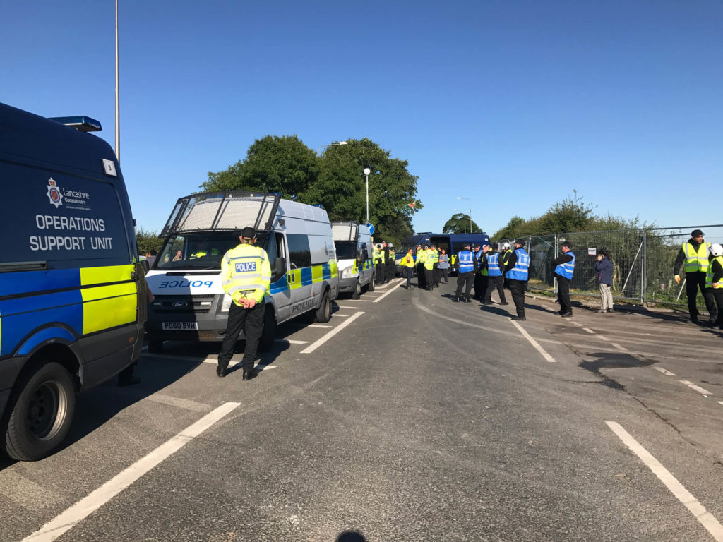 Protester Eviction Cramlington